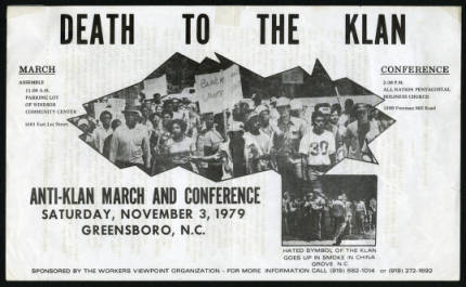 Death to the Klan flyer (Item 9.69.1223)