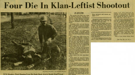 Four die in Klan Leftist shootout (Item 9.69.1229)
