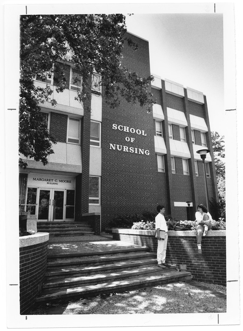 Description a photograph of the moore building home of the school of nursing the building opened in 1969 and was named for margaret catherine moore in
